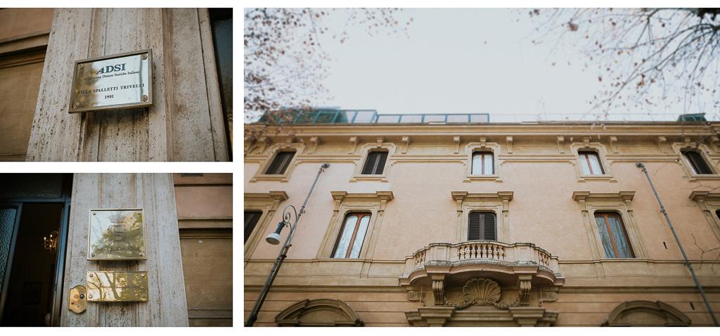 ingresso di villa spalletti trivelli a roma