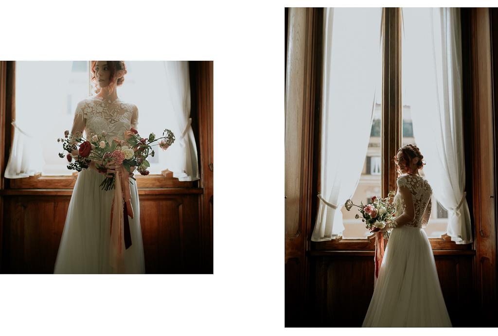 la sposa è pronta per la cerimonia