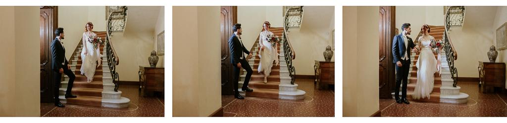 sposi si incontrano per la cerimonia