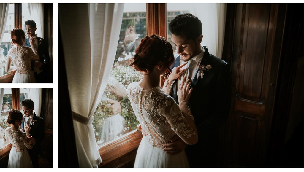 la sposa scherza con lo sposo destination wedding a roma