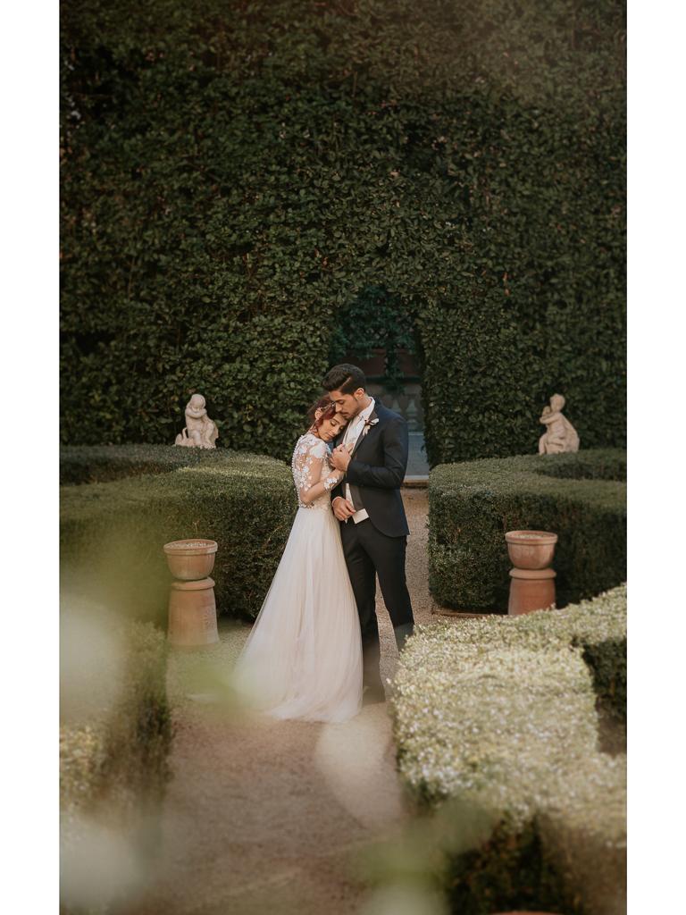 destination wedding in villa spalletti