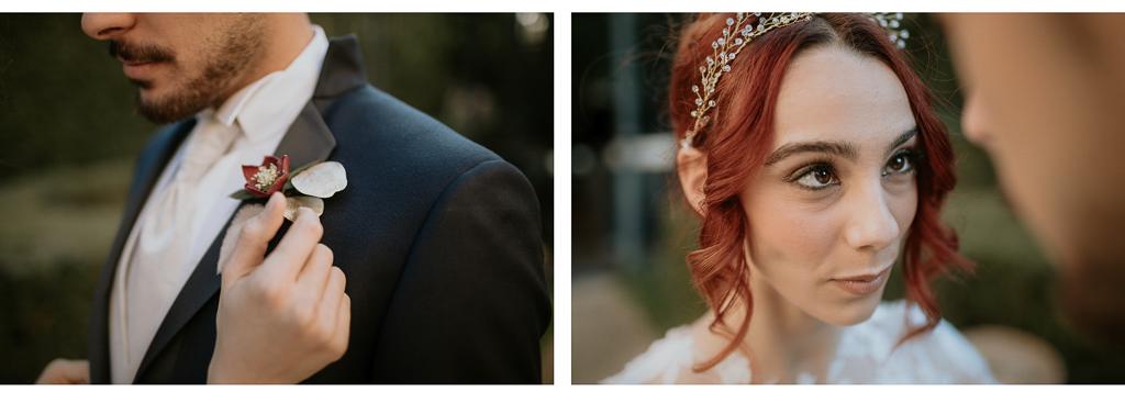 eleganza degli sposi del destination wedding a roma