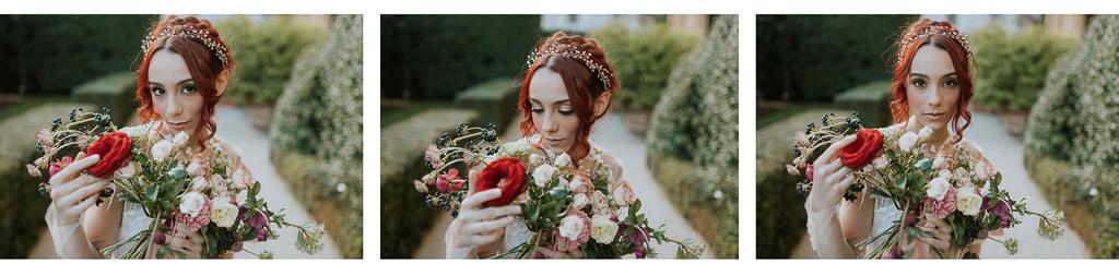 la sposa destination wedding e il suo bouquet