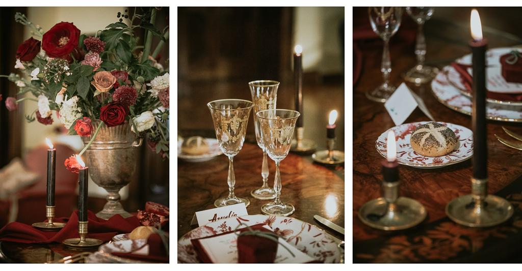 dettagli eleganti di destination wedding a roma