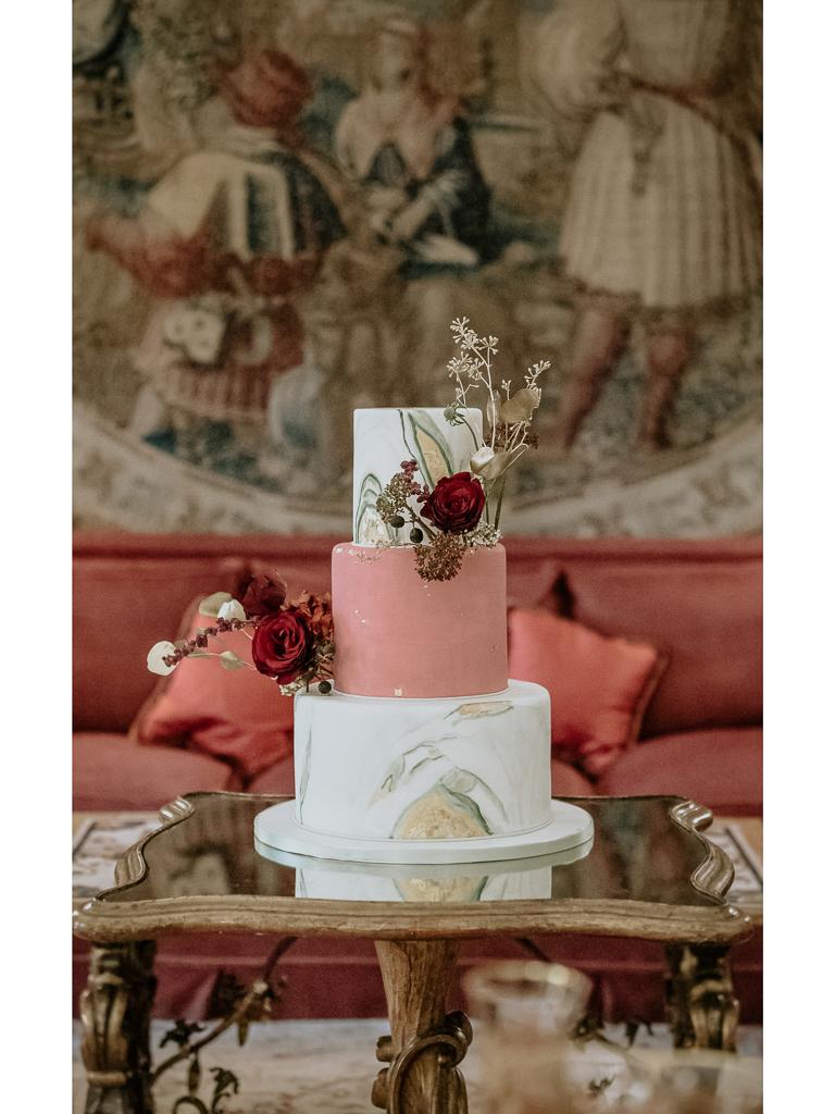 la torta del destination wedding a roma