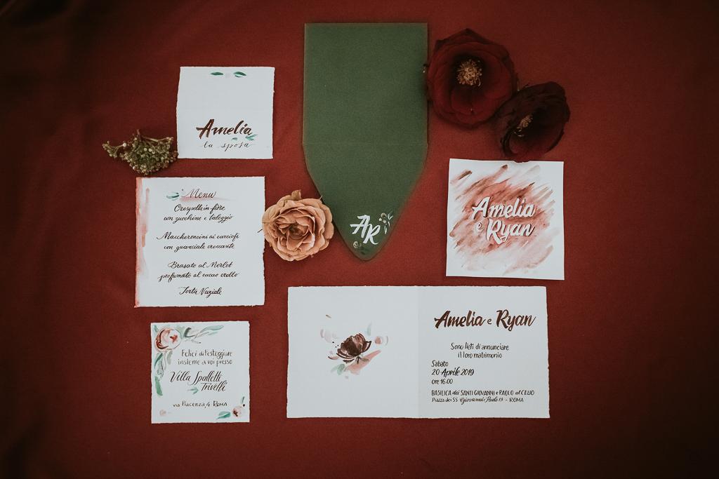 coordinato grafico destination wedding a roma