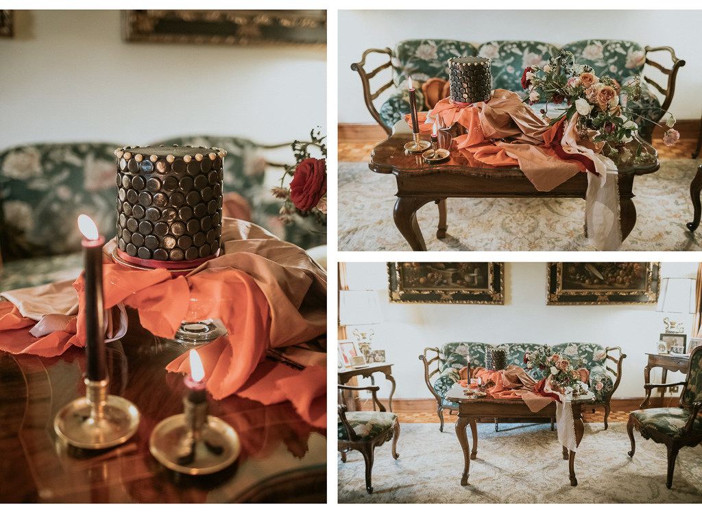 la torta nera del destination wedding a roma