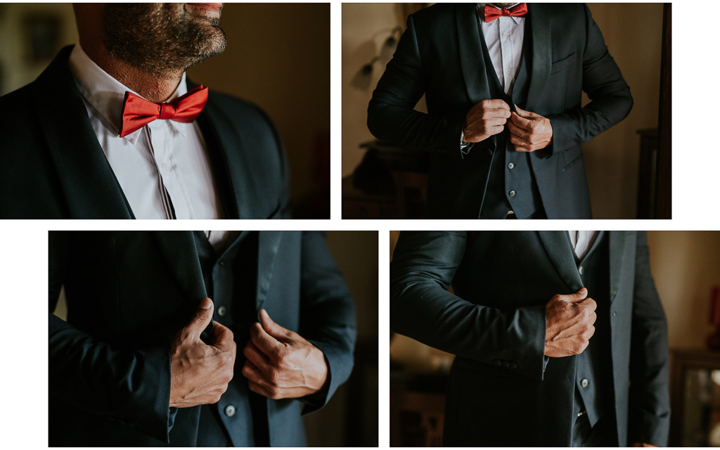dettagli del vestito dello sposo
