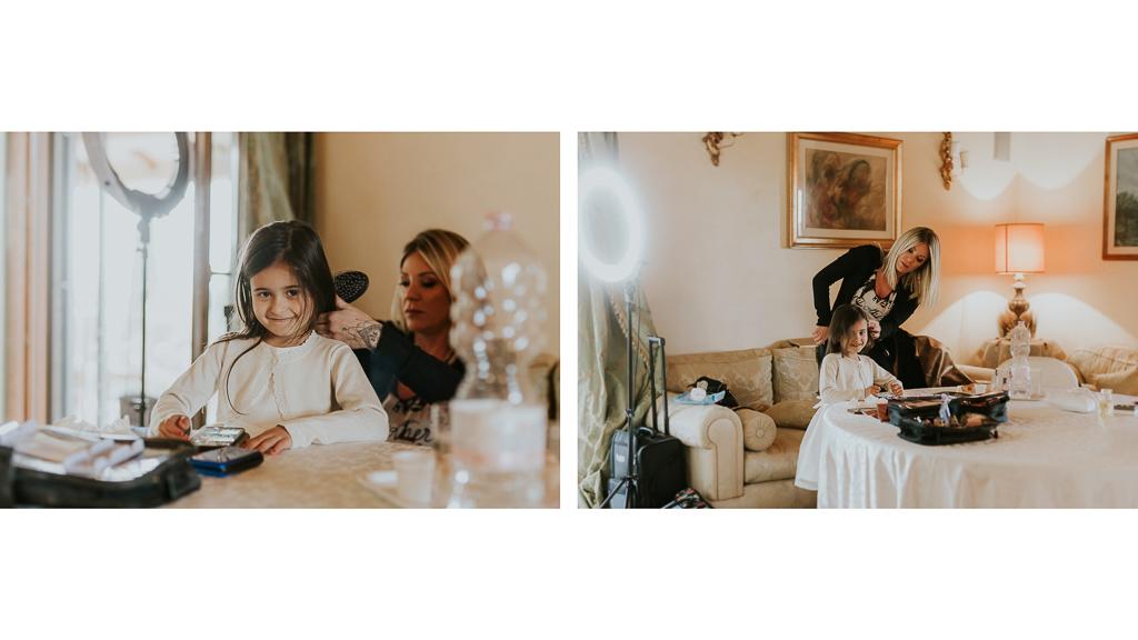 la figlia degli sposi si prepara al matrimonio