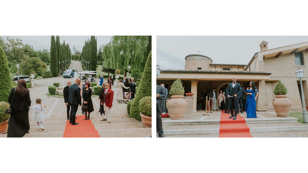 arrivo ospiti matrimonio tenuta ceccucci roma