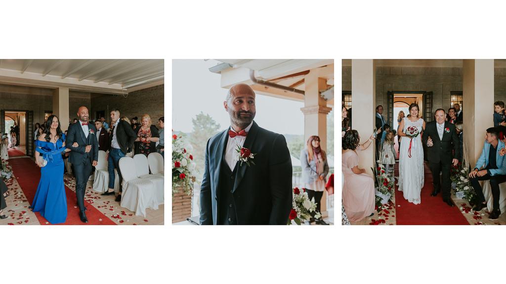 ingresso sposi per la cerimonia in tenuta ceccucci roma