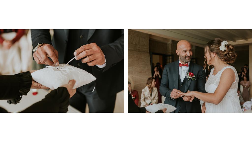 scambio delle fedi in matrimonio tenuta ceccucci roma