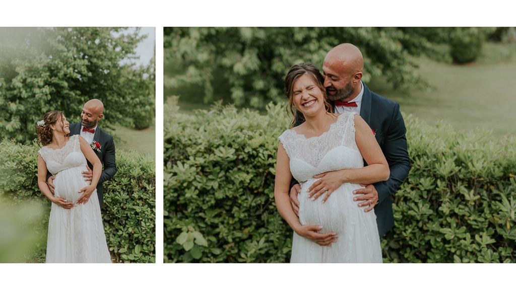 foto sposa in gravidanza