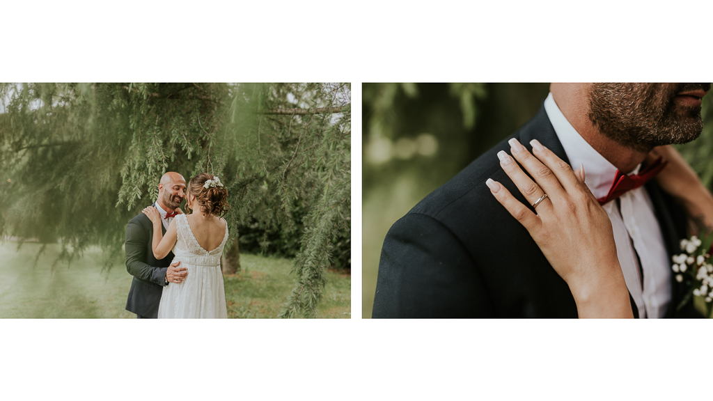foto sposi in giardino