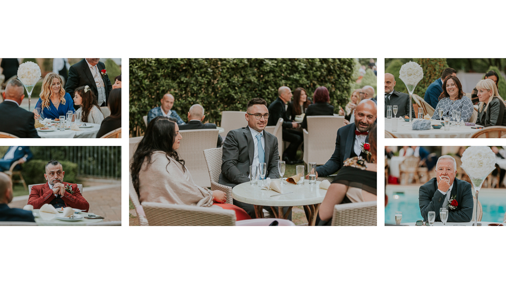 ospiti del ricevimento matrimonio tenuta ceccucci roma