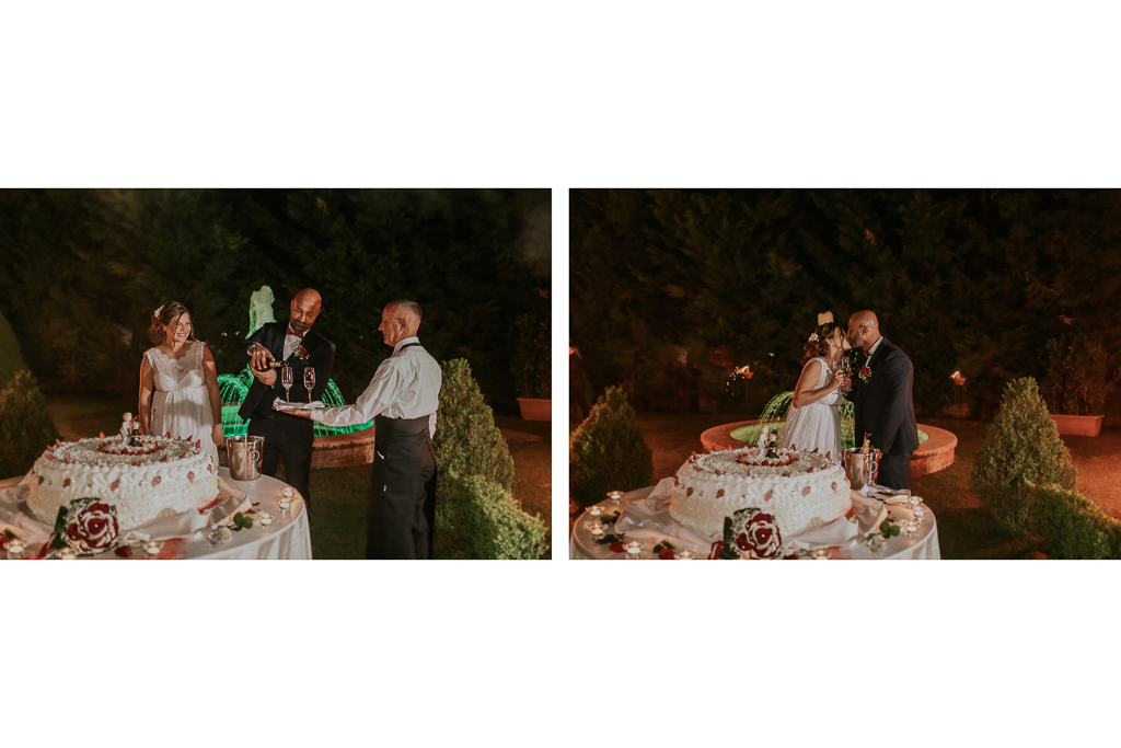 brindisi e taglio torta matrimonio