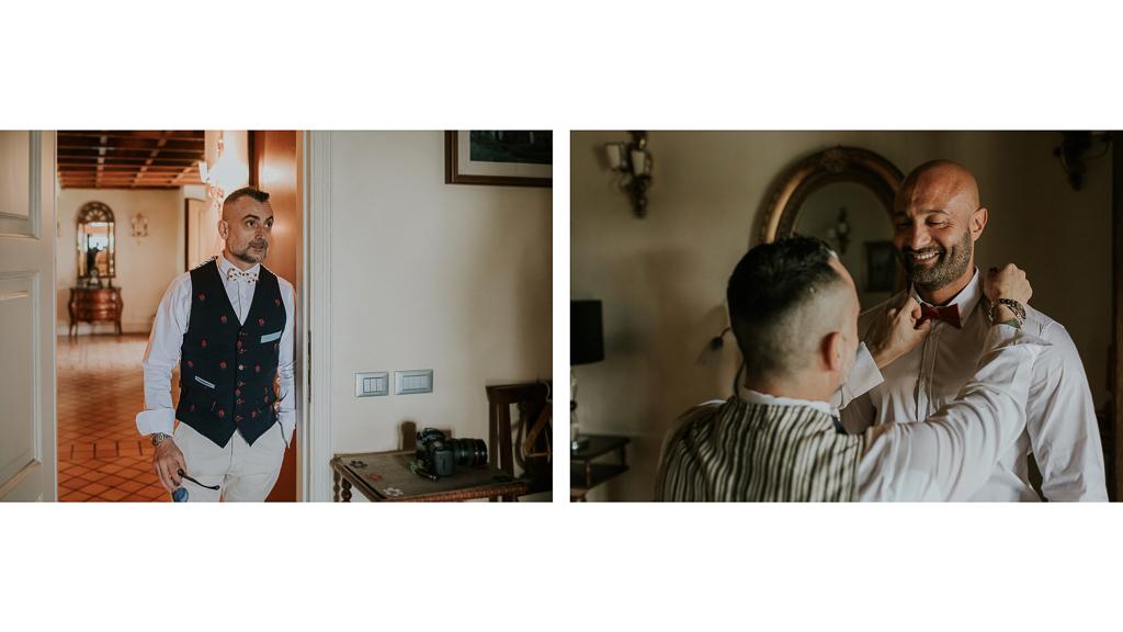 il testimone aiuta lo sposo