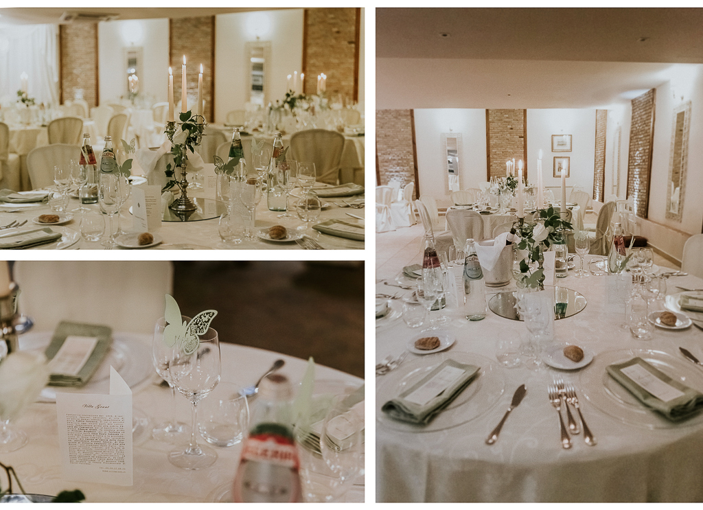 sala del ricevimento di matrimonio di villa grant a roma