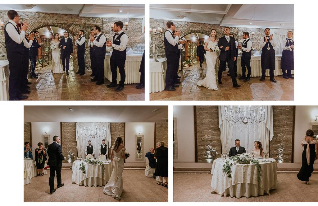 ingresso degli sposi in sala di villa grant a roma