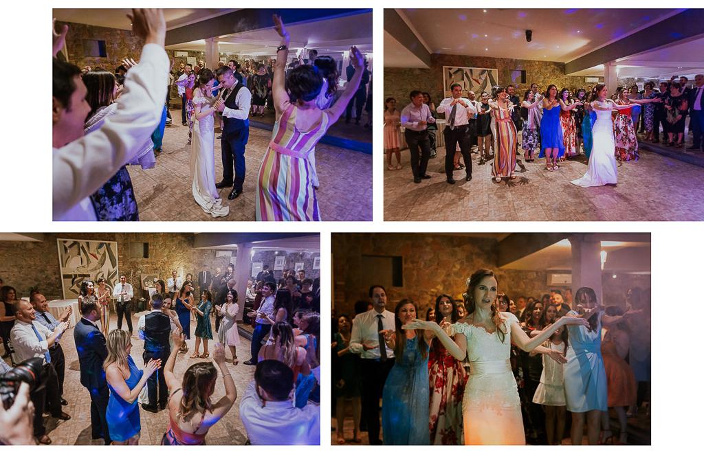 balli durante il ricevimento a villa grant a roma