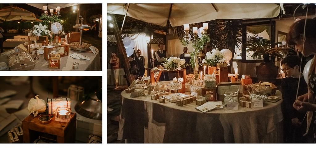 confettata di matrimonio serale in Villa Grant a Roma