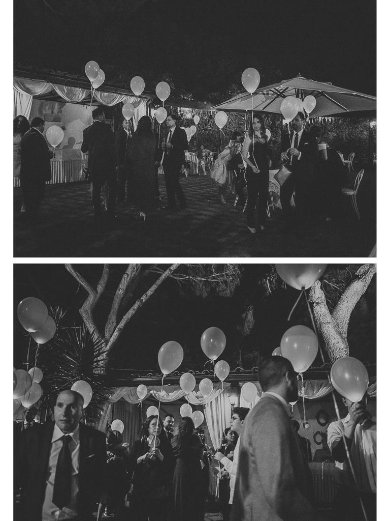 palloncini luminosi al matrimonio in villa grant a roma