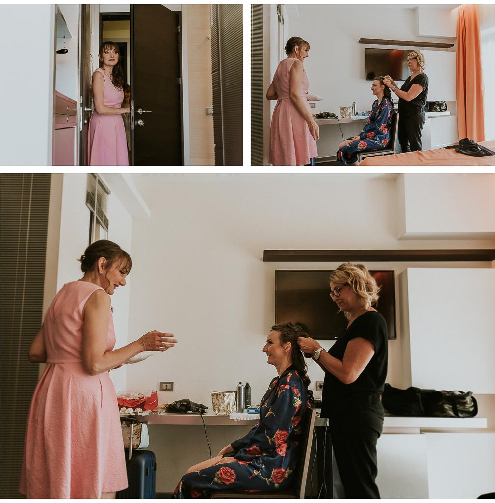 la sorella sorride alla sposa