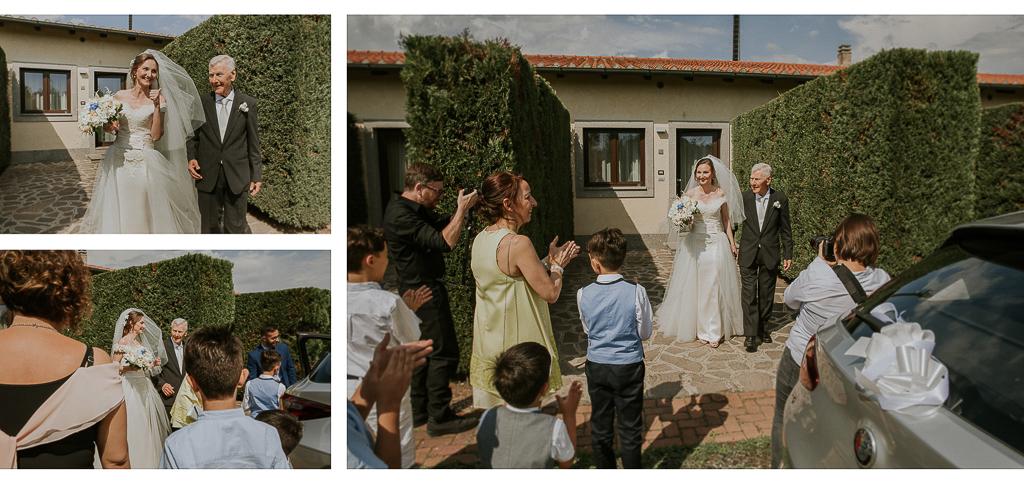 la sposa esce di casa