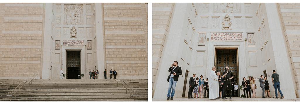 in chiesa si attende la sposa per celebrare il matrimonio a roma