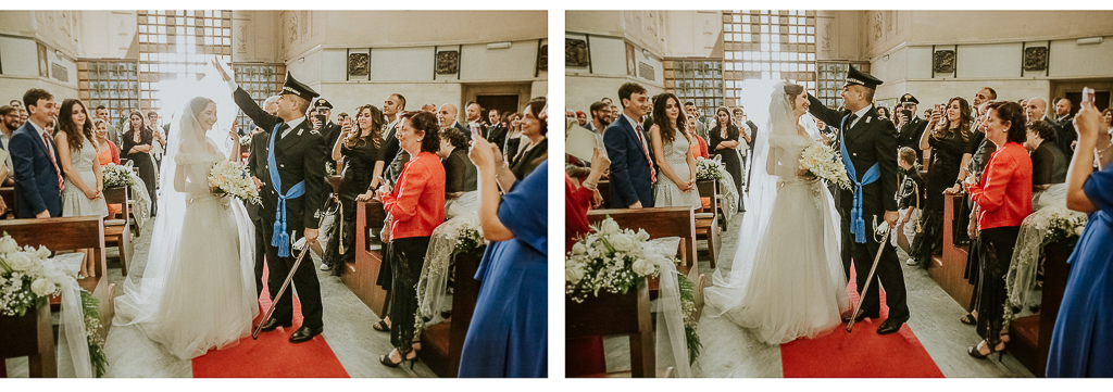 lo sposo toglie il velo alla sposa