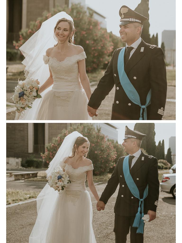 passeggiata degli sposi controluce
