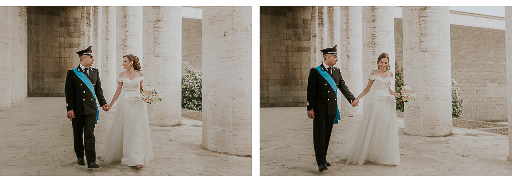 passeggiata fotografica degli sposi