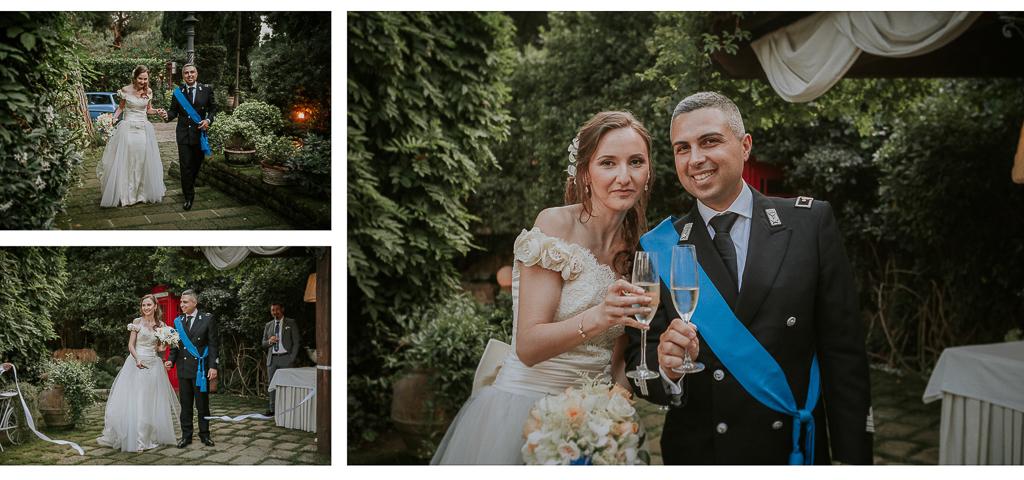 brindisi degli sposi Matrimonio Villa Grant a Roma