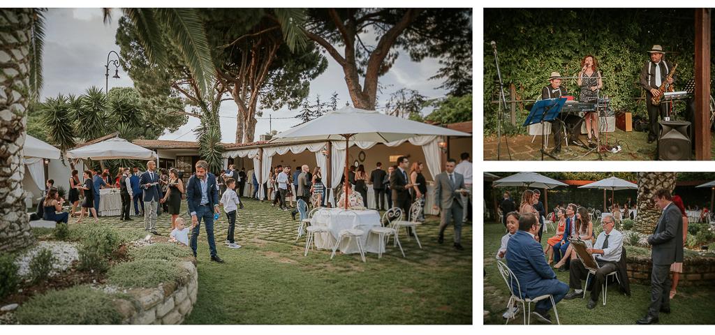 aperitivo di matrimonio in esterno presso villa grant a roma