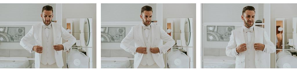 lo sposo si mette la giacca