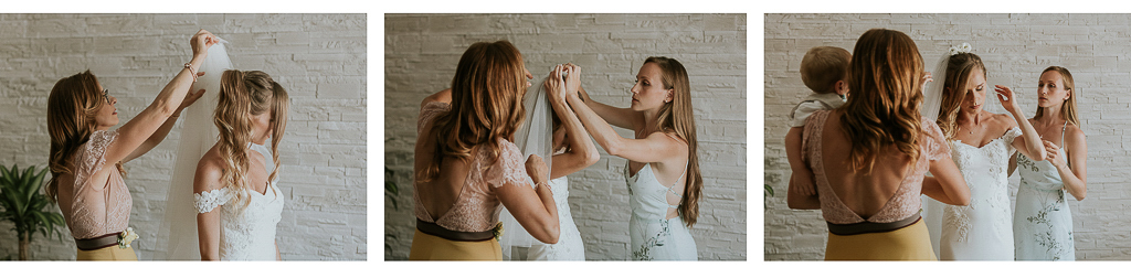 preparativi velo della sposa