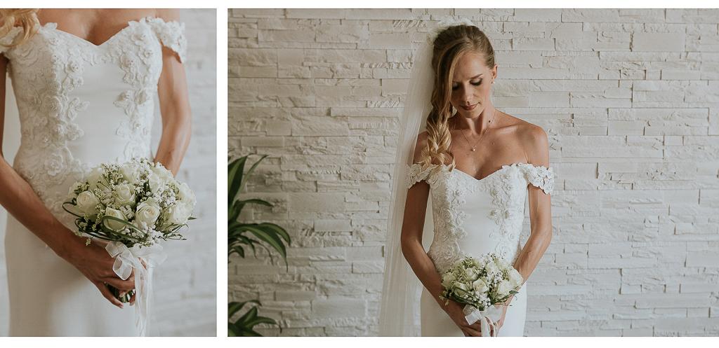 dettagli del bouquet della sposa