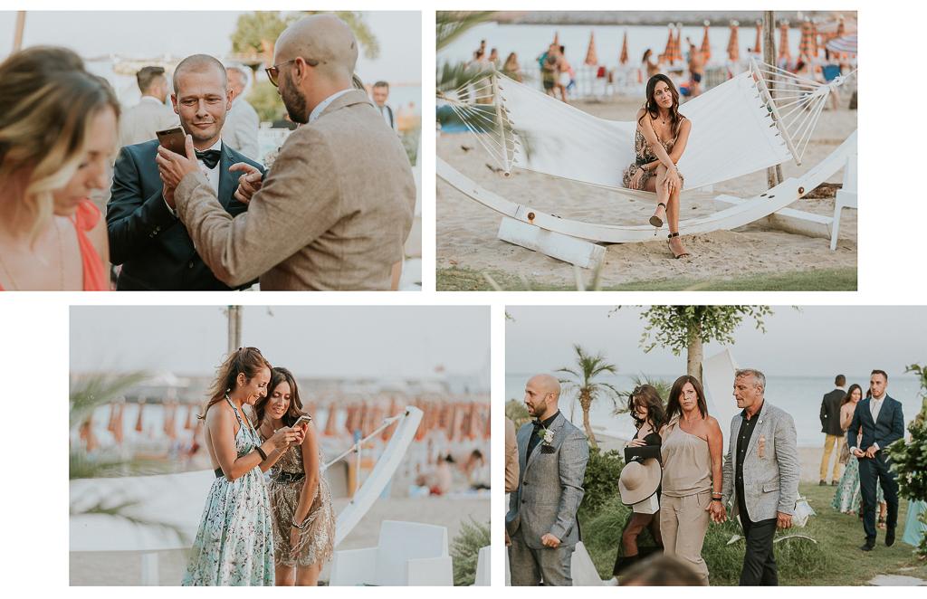 arrivo degli ospiti del matrimonio