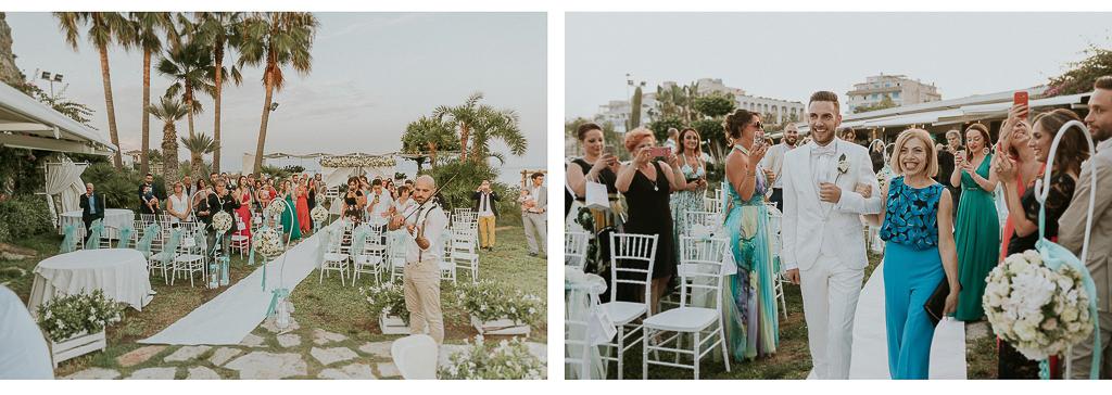 arrivo dello sposo a terracina