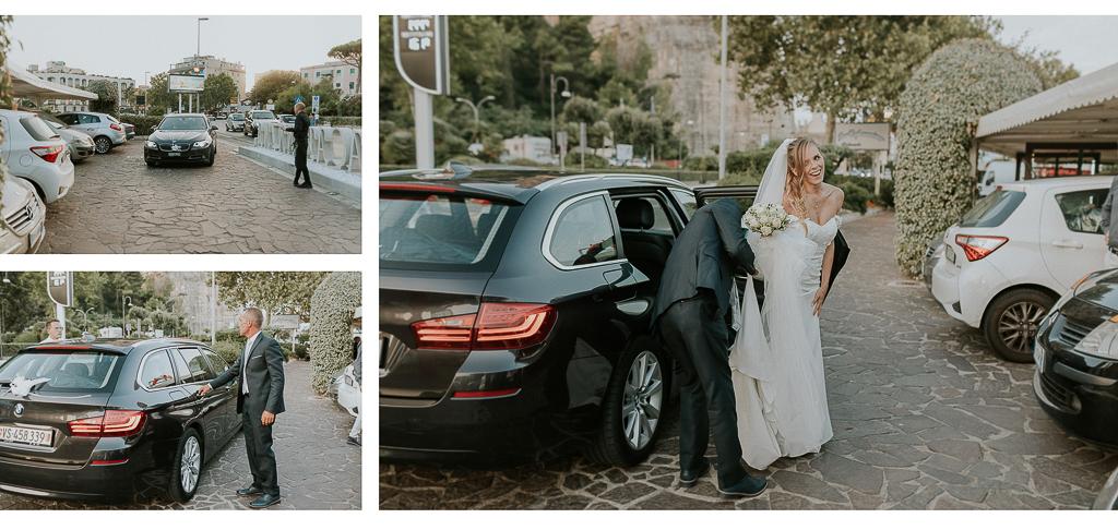 arrivo della sposa a terracina