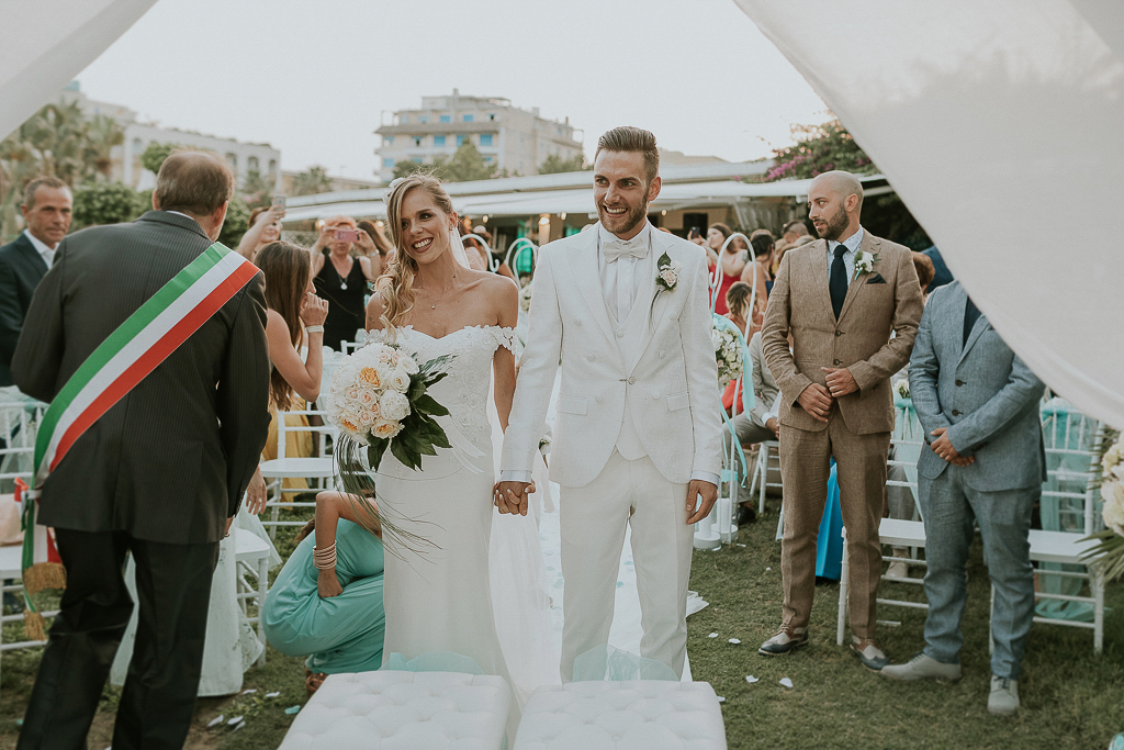 cerimonia matrimonio in bianco