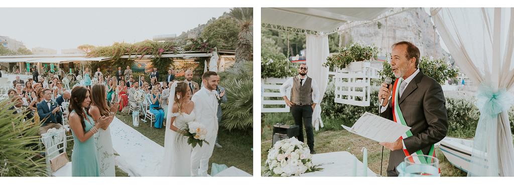 cerimonia di matrimonio all'aperto