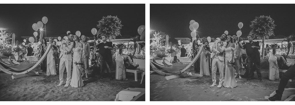 lancio palloncini luminosi matrimonio terracina