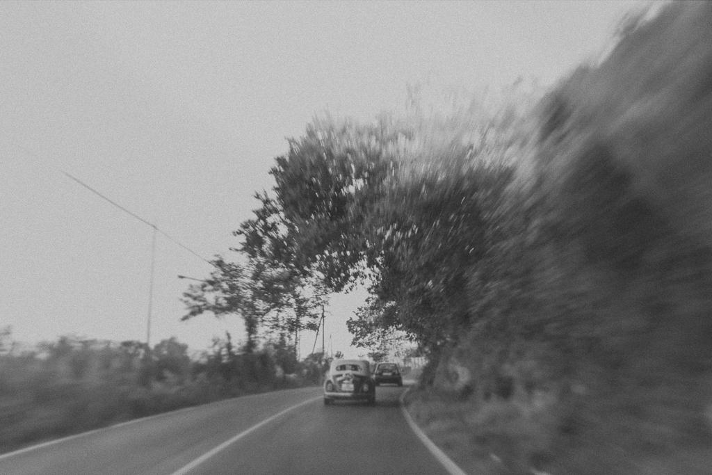 la macchina della sposa del matrimonio a roma
