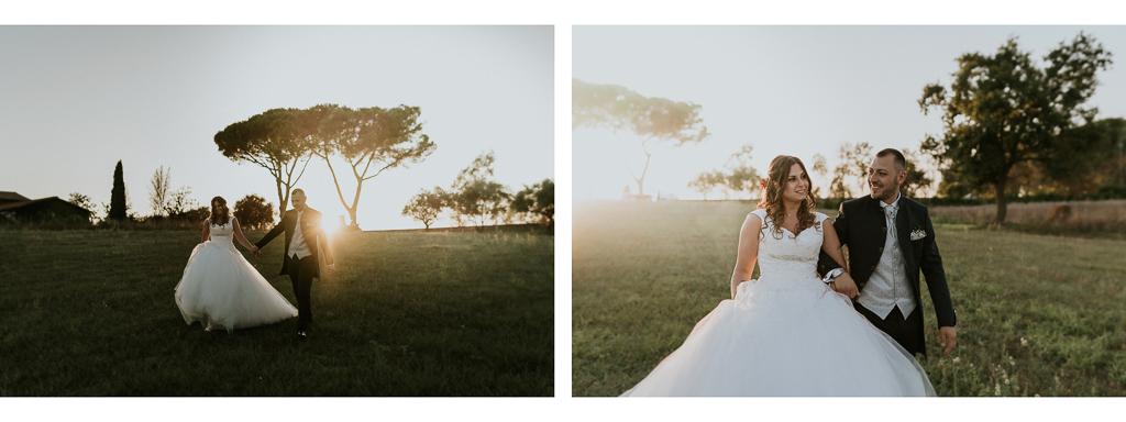 sposi nel giorno del matrimonio a roma