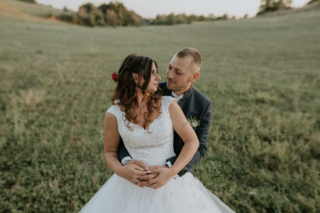 foto di coppia degli sposi a roma