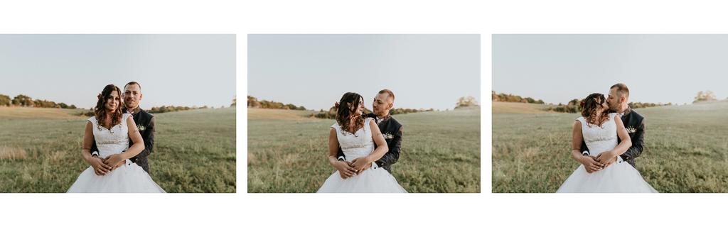 foto di matrimonio sul prato a roma