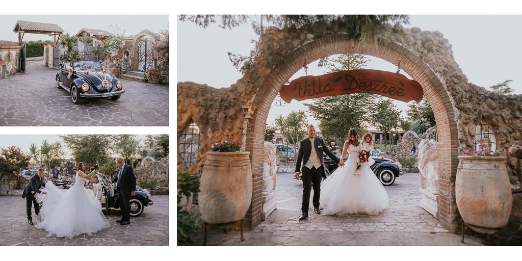 ingresso sposi in Villa Desirèe a Roma