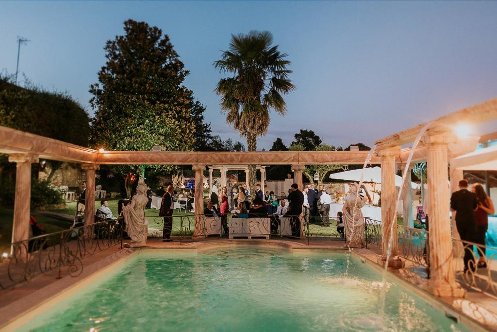 piscina di Matrimonio in Villa Desirèe a Roma