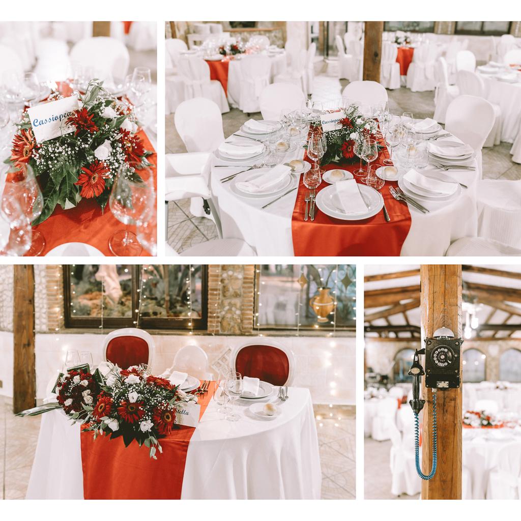 allestimento sala di Matrimonio in Villa Desirèe a Roma